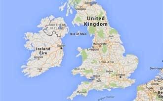 אנגליה מפה