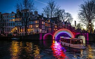 פסטיבל האורות באמסטרדם - Light Festival in Amsterdam